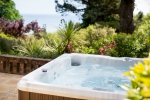 Another shot of the private bath overlooking Lyme Bay