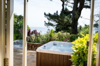 A view of Devon from your own private hot tub